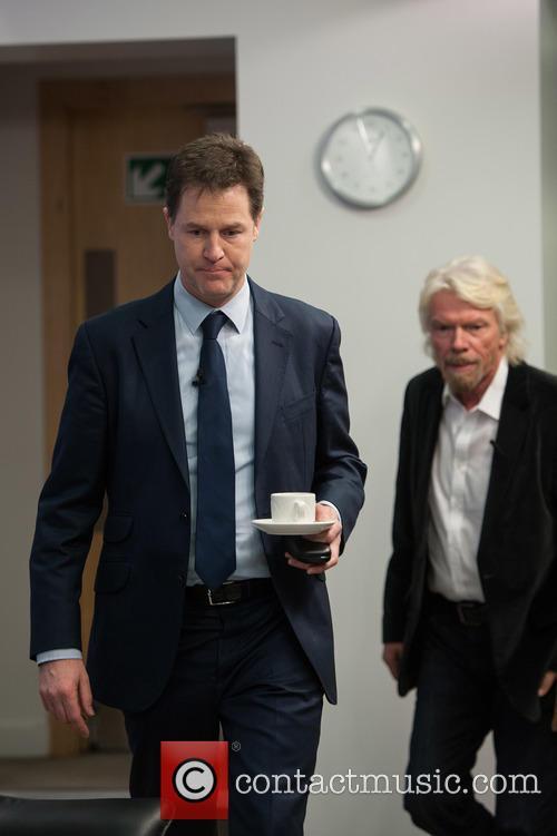 Sir Richard Branson and Nick Clegg 4