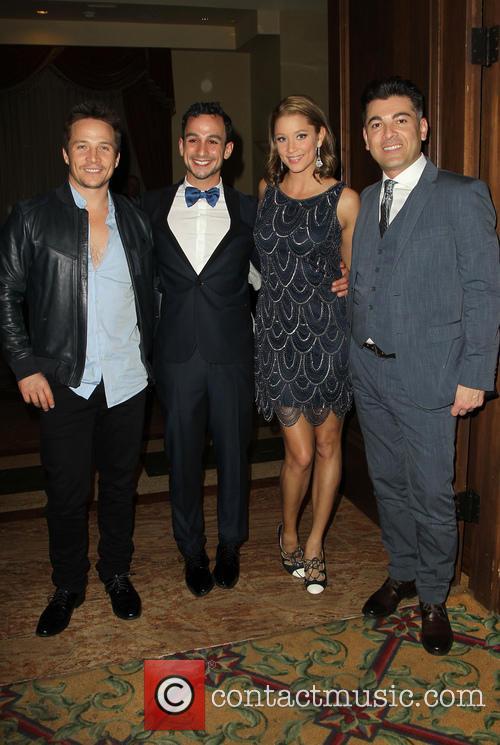 Travis Aaron Wade, Mayer Dahn, Kristen Renton and Guest 1