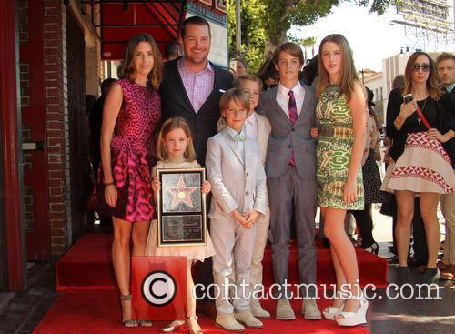 Caroline Fentress, Chris O'donnell, Lily Anne O'donnell, Finley O'donnell, Christopher O'donnell Jr., Maeve Frances O'donnell and Charles Mchugh O'donnell 3