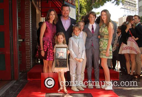 Caroline Fentress, Chris O'donnell, Lily Anne O'donnell, Finley O'donnell, Christopher O'donnell Jr., Maeve Frances O'donnell and Charles Mchugh O'donnell 1