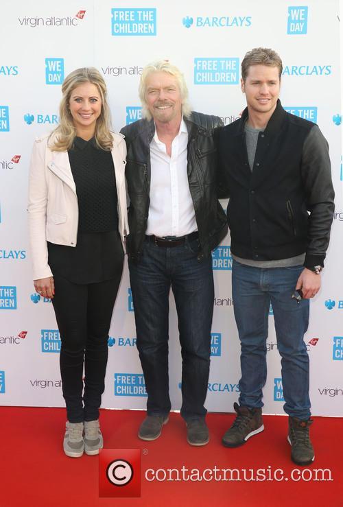 Holly Branson, Sir Richard Branson and Sam Branson 4