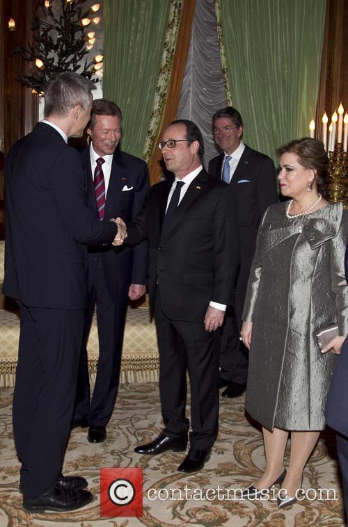 Francois Hollande and Grand Duc Henri 4