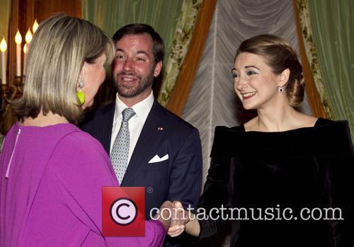 Prince Guillaume, Countess Stephanie De Lannoy and Lydie Polfer - 3