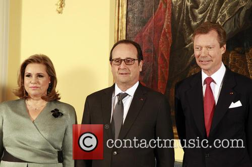 Francois Hollande, Grand Duke Henri Of Luxembourg and Grand Duchesse Maria Theresa 8