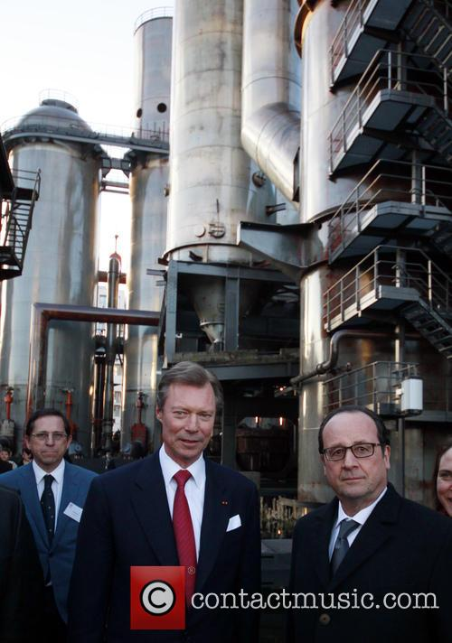 Francois Hollande and Grand Duke Henri Of Luxembourg 7
