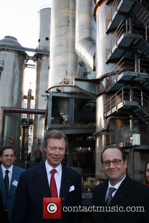 Francois Hollande and Grand Duke Henri Of Luxembourg 8