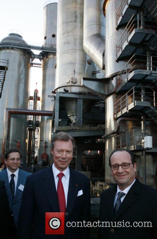 Francois Hollande and Grand Duke Henri Of Luxembourg 1