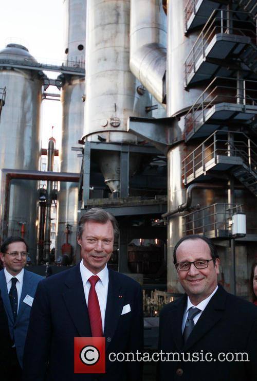 Francois Hollande and Grand Duke Henri Of Luxembourg 11