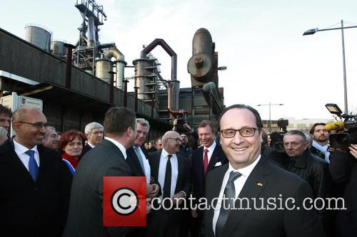 Harlem, Francois Hollande and Grand Duke Henri Of Luxembourg 2