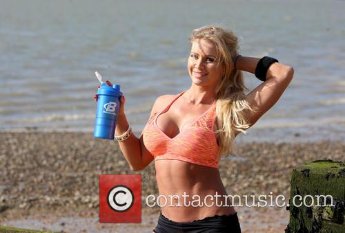 Fitness model Char Everhart has a spring in...