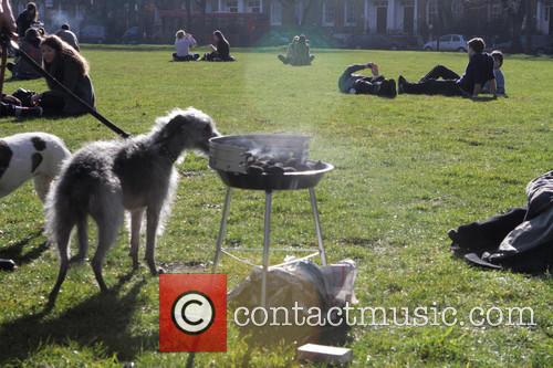 Hackney, East London, experiences the first sunny and...