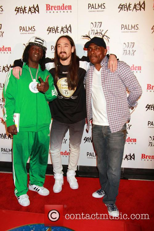 Flavor Flav, Steve Aoki and Coolio 6