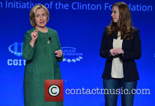 Hillary Clinton, Former U.s. Secretary Of State and Chelsea Clinton 4