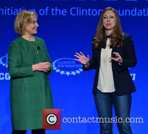 Hillary Clinton, Former U.s. Secretary Of State and Chelsea Clinton 7