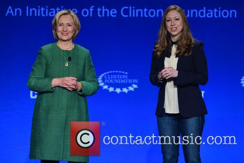 Hillary Clinton, Former U.s. Secretary Of State and Chelsea Clinton 9