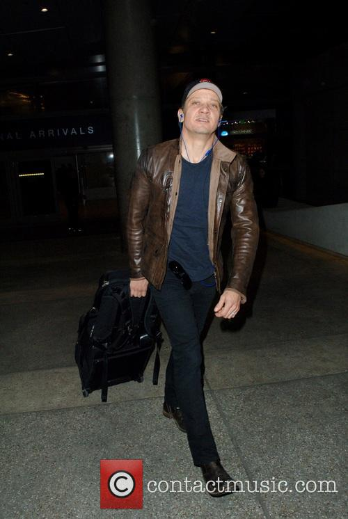 Jeremy Renner arrives at LAX airport