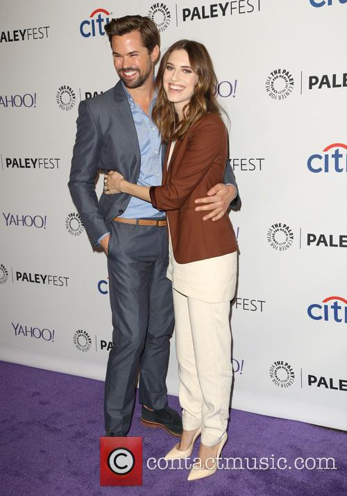 Andrew Rannells and Allison Williams 2