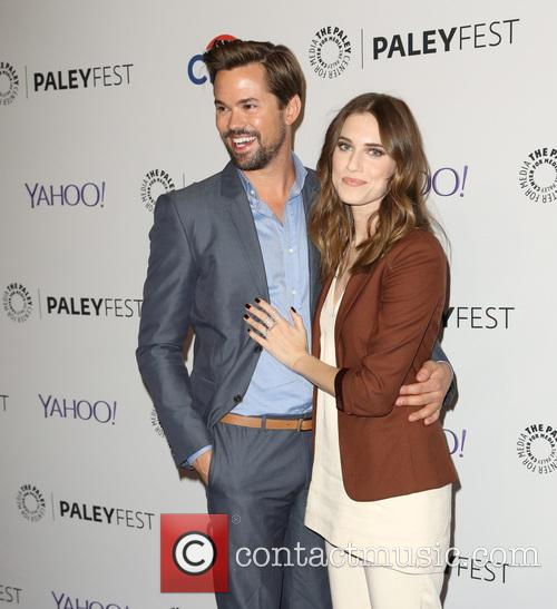 Andrew Rannells and Allison Williams 3