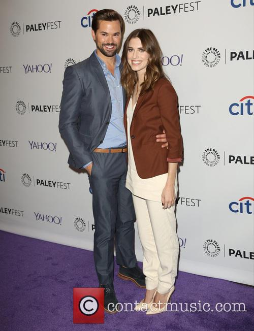 Andrew Rannells and Allison Williams 4