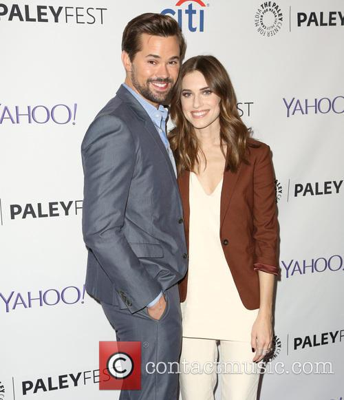 Andrew Rannells and Allison Williams 8