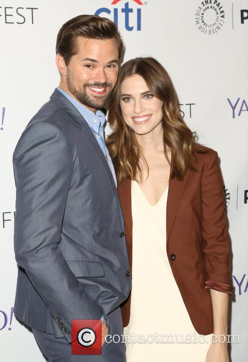 Andrew Rannells and Allison Williams 9