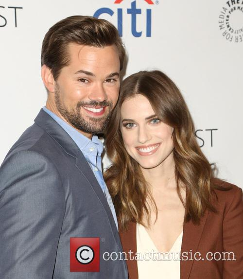 Andrew Rannells and Allison Williams 10