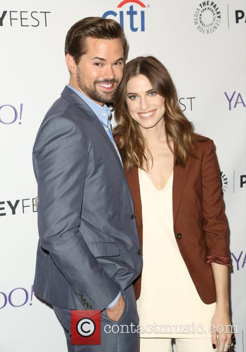 Andrew Rannells and Allison Williams 11