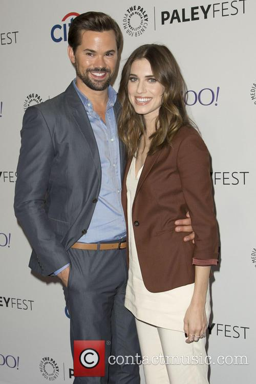 Andrew Rannells and Allison Williams 1