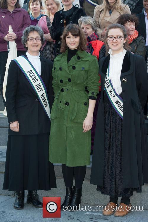Gemma Arterton, Helen Pankhurst and Laura Pankhurst 6