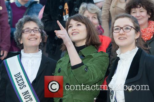 Gemma Arterton, Helen Pankhurst and Laura Pankhurst 7