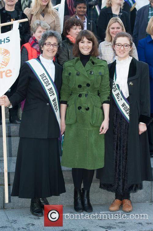 Gemma Arterton, Helen Pankhurst and Laura Pankhurst 8