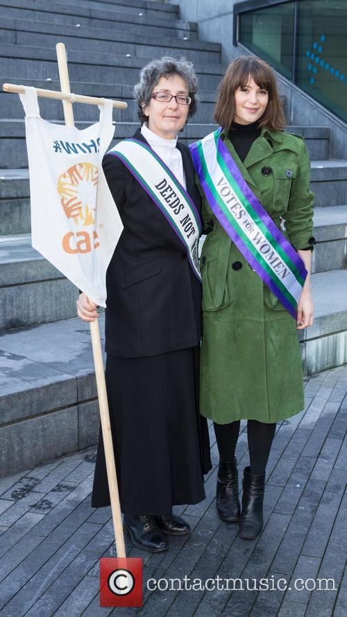 Gemma Arterton and Helen Pankhurst 2