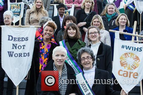 Gemma Cairney, Annie Lennox, Gemma Arterton, Helen Pankhurst, Laura Pankhurst, Dame Jacqueline Wilson and Sandi Toksvig 1