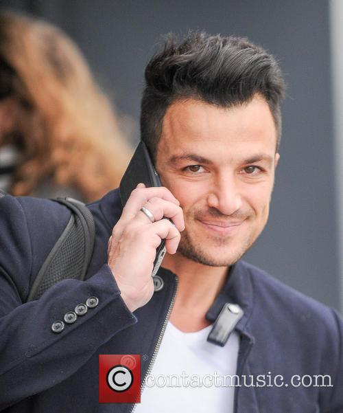 Peter Andre at Gatwick Airport