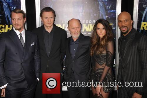 Joel Kinnaman, Liam Neeson, Ed Harris, Genesis Rodriguez and Common 3