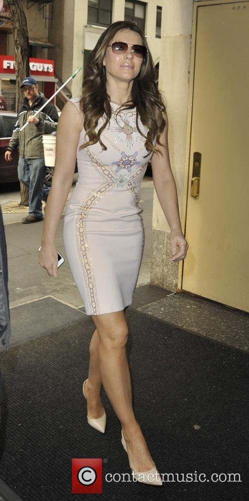 Elizabeth Hurley out in New York