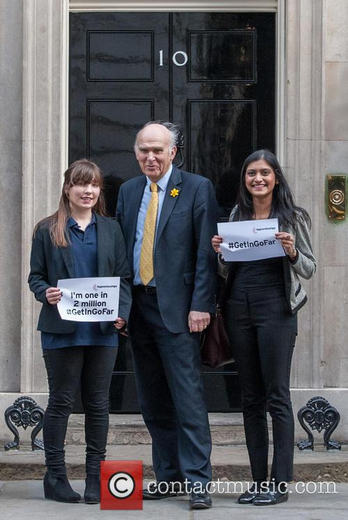 Paige Mcconville, Vince Cable and Pallavi Boppana 1