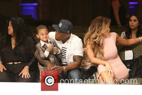Curtis James Jackson Iii, 50 Cent, Daphne Joy and Sire Jackson 7