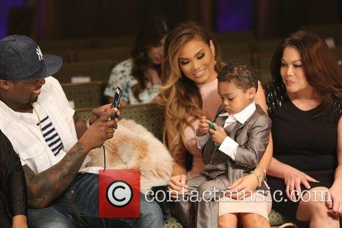 Curtis James Jackson Iii, 50 Cent, Daphne Joy and Sire Jackson 9