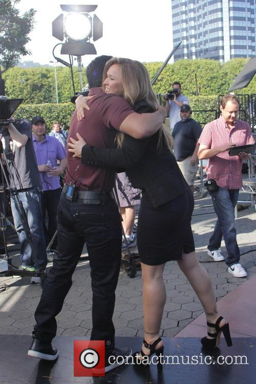 Mario Lopez and Ronda Rousey 7
