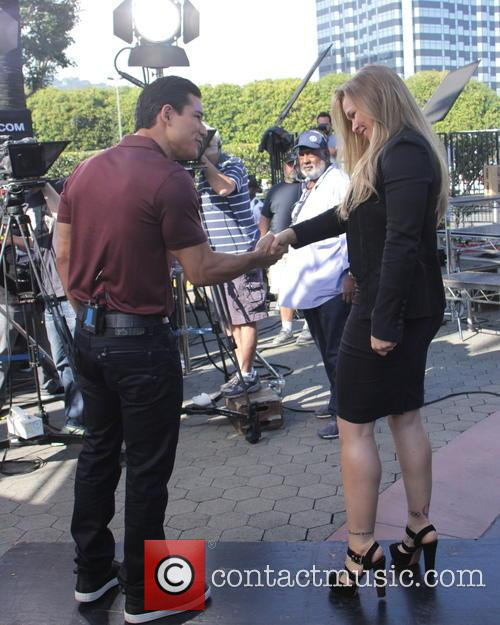 Mario Lopez and Ronda Rousey 8
