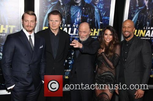 Joel Kinnamam, Liam Neeson, Ed Harris, Genesis Rodriguez and Common 2