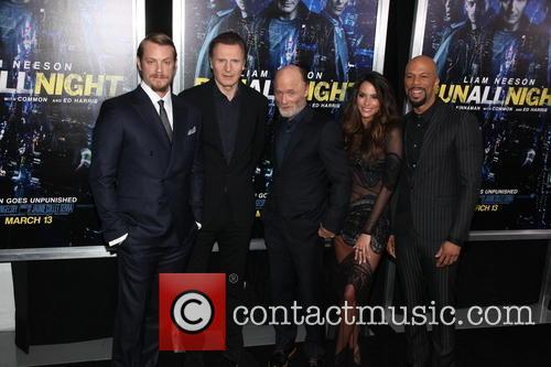 Joel Kinnamam, Liam Neeson, Ed Harris, Genesis Rodriguez and Common 1