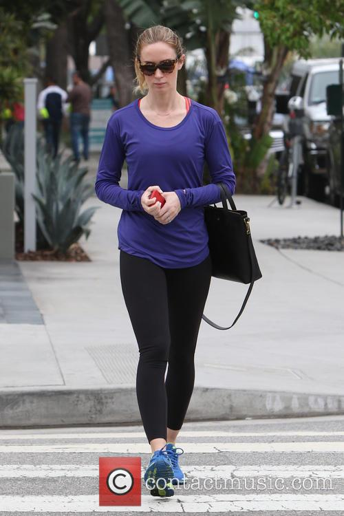 Emily Blunt goes for lunch at Blue Daisy...