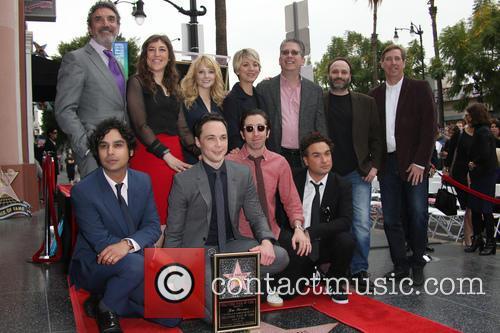 Chuck Lorre, Mayim Bialik, Melissa Rauch, Kaley Cuoco, Kunal Nayyar, Jim Parsons, Simon Helberg and Johnny Galecki 11