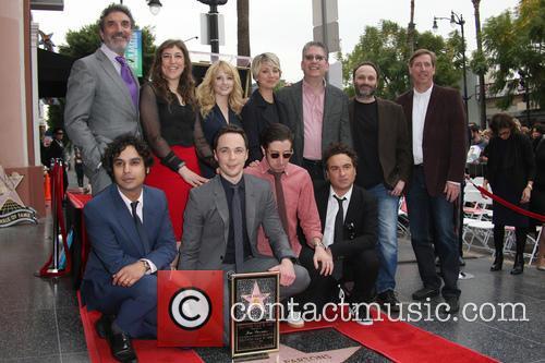 Chuck Lorre, Mayim Bialik, Melissa Rauch, Kaley Cuoco, Kunal Nayyar, Jim Parsons, Simon Helberg and Johnny Galecki