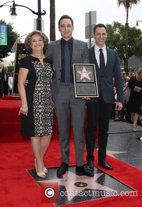 Judy Parsons, Jim Parsons and Todd Spiewak 6