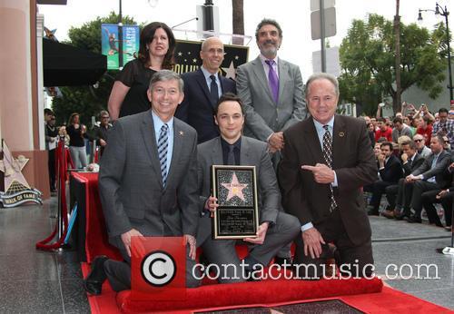 Leron Gubler, Chuck Lorre, Jim Parsons, Jeffrey Katzenberg and Tom Labonge 1