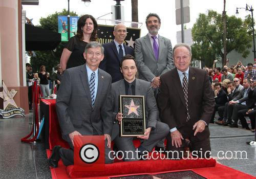 Leron Gubler, Chuck Lorre, Jim Parsons, Jeffrey Katzenberg and Tom Labonge 10
