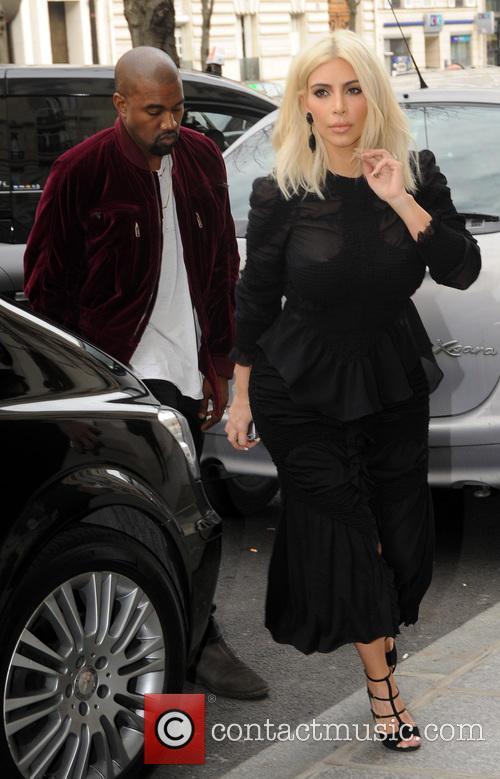 Kim Kardashian and Kanye West visit Louis Vuitton